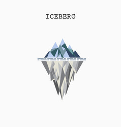 Abstract triangle iceberg logo design vector