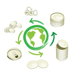 Aluminum Can Recycling Symbol for Save The World vector image