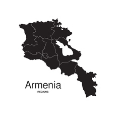 Armenia regions map vector image vector image