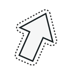 Arrow technology isolated icon vector