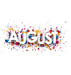 August sign vector