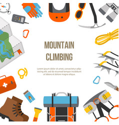 banner flat design equipment for climbing vector image vector image