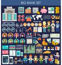 Big bank set vector image