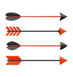 Bow arrows vector