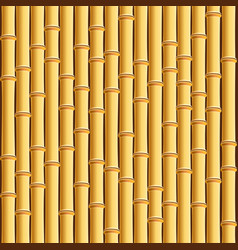 brown bamboo stick pattern background vector image vector image