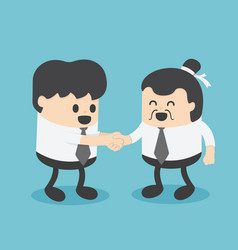 businessmen create business relations with vector image vector image