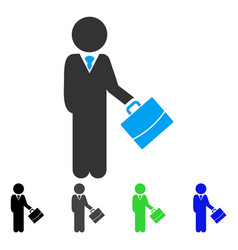 Child manager flat icon vector