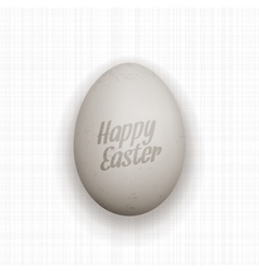 Easter realistic Egg with Text and Shadows vector image vector image