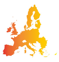 european union territory orange gradient vector image vector image