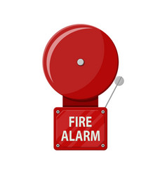 Fire alarm system fire equipment vector