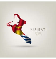 Flag of KIRIBATI as a country with a shadow vector image