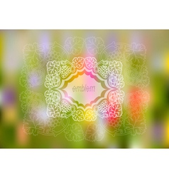 Frame with bunches of grapes and background vector image