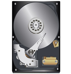 hard drive vector image vector image