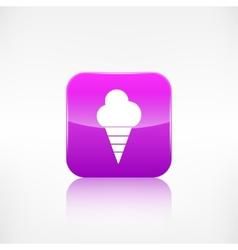 Ice cream web icon application button vector