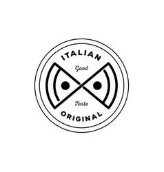 Italian original pizza logo vector
