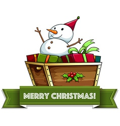 Merry Christmass vector image vector image
