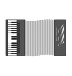 Piano keyboard accordion harmonica musical vector
