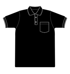 Polo shirt outline silhouetted vector