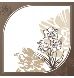 retro card with flowers vector image vector image