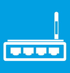 Router icon white vector