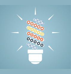 Simple light bulb conceptual icon with colorful vector
