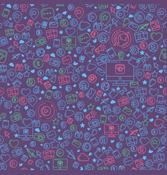social media colorful seamless pattern vector image vector image