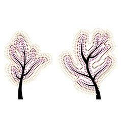 Stylized Autumn Tree3 vector image vector image