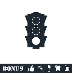 Traffic light icon flat vector
