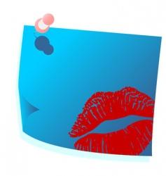 valentines blue post it vector image