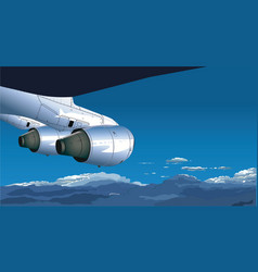 view from airplane vector image vector image