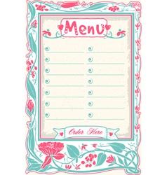 Vintage candid menu in pink vector