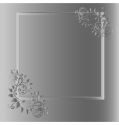 Vintage frame on grey background vector