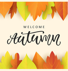 Autumn sale banner template with fall leaves vector image welcome autumn banner template with fall leaves vector image vector image pronofoot35fo Image collections