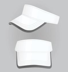 white visor cap vector image vector image