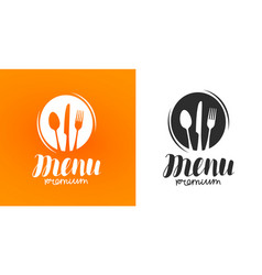 Cooking cuisine logo icon and label for design vector