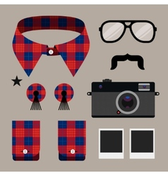 Set of fashion hipster design element vector