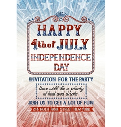 fourth of july invitation vector image