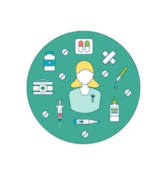 Health care concept vector