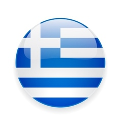 Round icon with flag of greece vector