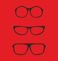 Red nerd glasses for professor or secretary vector