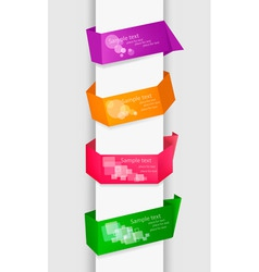 Empty colorful paper tags vector