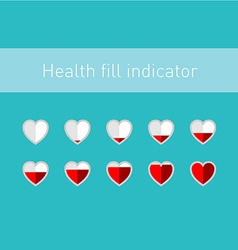 Heart fill indicator scale with 10 animation vector