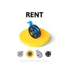 Rent icon in different style vector