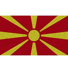 Flags macedonia on denim texture vector