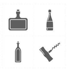 Four modern flat bar icons vector
