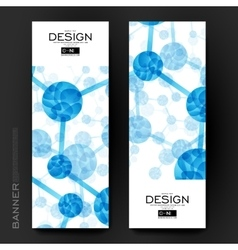 Beautiful banner template with dna molecule vector