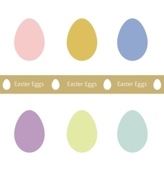 Set of easter eggs set of easter eggs vector