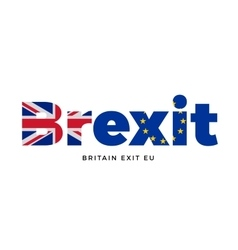 Brexit - britain exit from european union on vector
