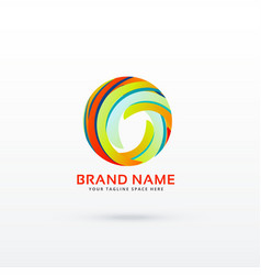 Abstract circle logo design concept vector