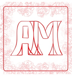 Am monogram vector